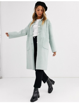 Miss Selfridge Tailored Coat In Mint by Miss Selfridge