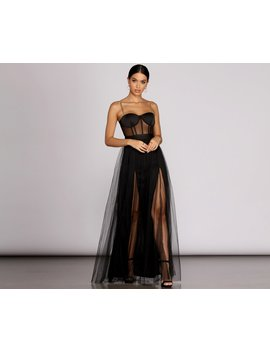 Cintra Mesh Tulle Bustier Gown by Windsor