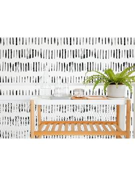 Brush Stroke Removable Wallpaper Design / Black And White Self Adhesive Brush Stroke Wallpaper / Peel And Stick Wallpaper With Brush Strokes by Etsy
