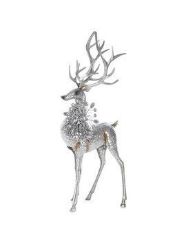 Silver Standing Metal Deer With Snowflake by Hobby Lobby