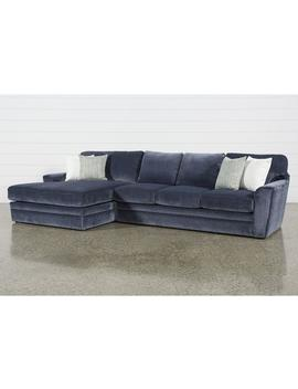 Prestige Foam 2 Piece Sectional With Left Arm Facing Oversized Chaise by Living Spaces