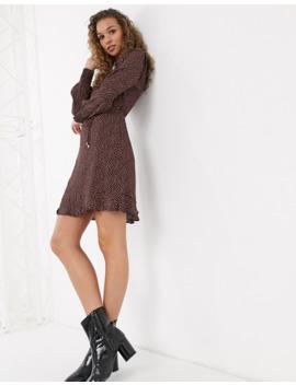 Oasis Mini Dress In Leaf Print by Oasis