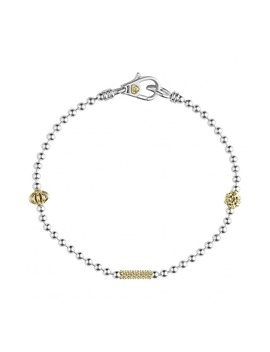 Caviar Icon Single Strand Bracelet by Lagos
