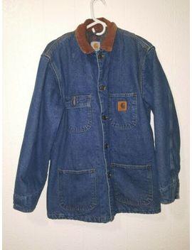Carhartt 14806 Insulated Work Chore Coat Jean Jacket Black Men's Small Regular by Carhartt