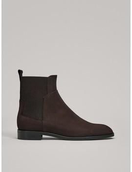 Nubuck Sock Boots by Massimo Dutti