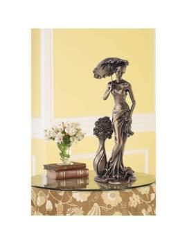 "Springtime Promenade Bronze Finish 14 3/4"" High Sculpture by Lamps Plus"