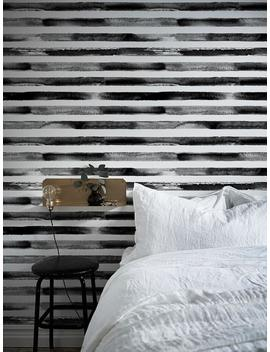 Black And White Watercolor Lines Wall Art Wallpaper Watercolor Mural Wall Paper Removable Black Lines Watercolor Removable Wallpaper   A247 by Etsy