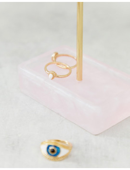 Stackers Small Rose Quartz T Bar Jewellery Stand by Asos