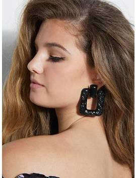 Textured Door Knocker Earrings by Guess
