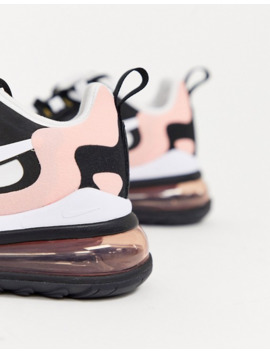 Nike Pink And Black Air Max 270 React Sneakers by Nike