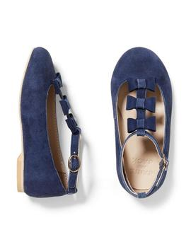 Bow T Strap Flat by Janie And Jack