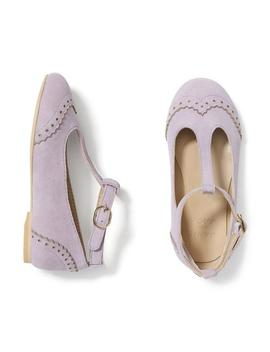 Wingtip T Strap Flat by Janie And Jack