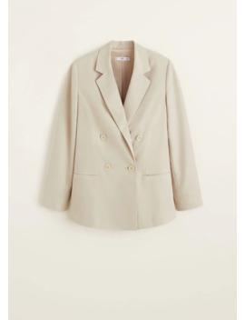 Σακάκι κοστουμιού μοντάλ by Mango