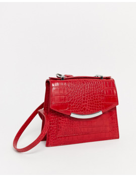 Pull&Amp;Bear Moc Croc Cross Body Bag In Red by Pull&Bear