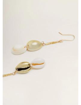 Σκουλαρίκια κρεμαστά κοχύλι by Mango