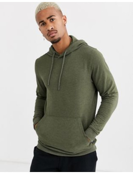 Only &Amp; Sons Basic Hoodie In Khaki by Only & Sons