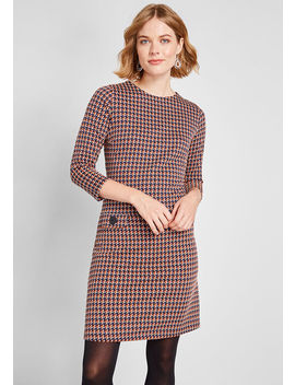 Seeing A Pattern A Line Dress by Modcloth
