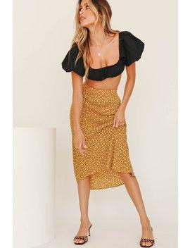 Golden Sand Bias Cut Midi Skirt // Mustard by Vergegirl