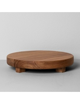 Acacia Wood Round Footed Tray   Hearth & Hand™ With Magnolia by Shop This Collection