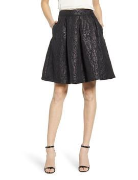 X Hi Sugarplum! Holiday Etoile Jacquard Skirt by Gibson