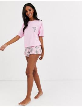 Asos Design Koala Tee &Amp; Short Jersey Pyjama Set by Asos Design