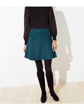 Petite Flecked Flippy Skirt by Loft