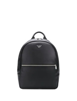 Logo Plaque Backpack by Emporio Armani