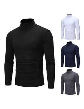 Mens Thermal Cotton Turtle Neck Skivvy Turtleneck Sweaters Tops Stretch T Shirt by Meihuida