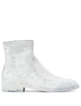 Painted Effect Ankle Boots by Maison Margiela