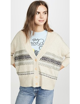 Fair Isle Drop Shoulder Oversized Cardi by Chaser