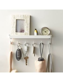 Magnet Key Hook Tray, White by West Elm
