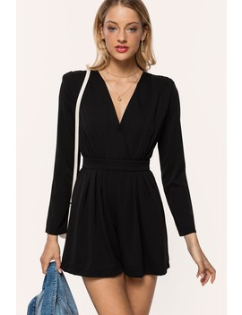 Totally Black by Loavies Black Playsuit