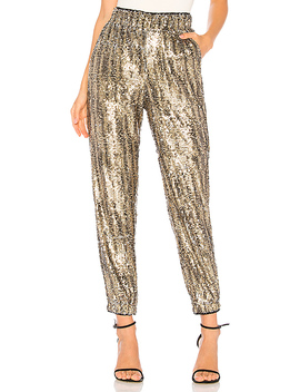 Cara Sequin Pant In Natural Sequin by Tularosa