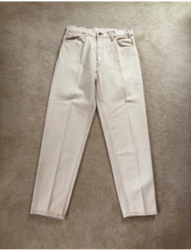 Vintage Cream Orange Tab Levis 550 Jeans by Levi's  ×  Levi's Vintage Clothing  ×