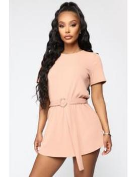 Playing You Ribbed Romper   Salmon by Fashion Nova