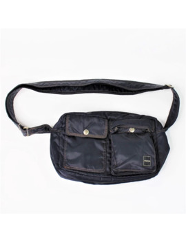 Vintage Yoshida Porter Crossbody Nylon Bag Navy Blue by Porter  ×