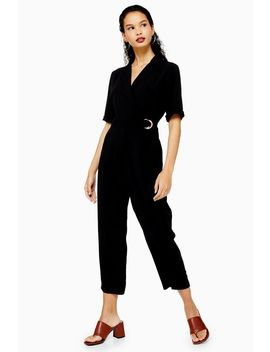 Tall Black Utility Buckle Jumpsuit by Topshop