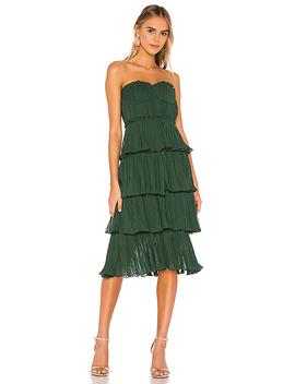 Alex Midi Dress In Emerald Green by Lovers + Friends