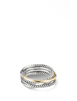 Crossover Narrow Ring With 18 K Gold by David Yurman