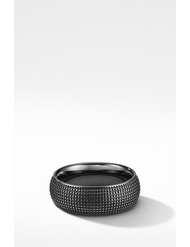 Sky Band Ring In Black Titanium by David Yurman