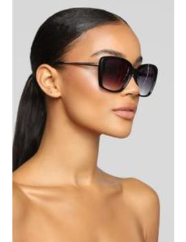 Clearly Not Sunglasses   Black by Fashion Nova