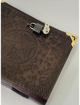Classic Big Spell Book Grimoire Book Of Shadows Pentagram Pentacle Handmade by Etsy