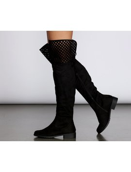 Over The Knee Flat Detailed Boots by Windsor