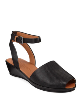 Lily Leather Demi Wedge Sandals by Gentle Souls