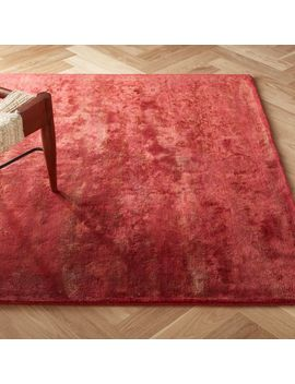 Atossa Faded Red Rug by Crate&Barrel