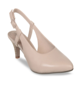 Women Pink Solid Pumps by Clarks