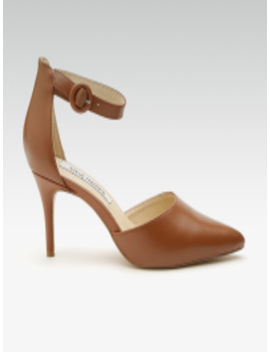 Women Brown Leather Mid Top Solid Pumps by Steve Madden