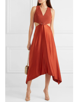 Embellished Cutout Cady And Satin Dress by Dion Lee