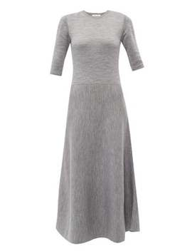 seymore-wool-and-cashmere-blend-midi-dress by gabriela-hearst
