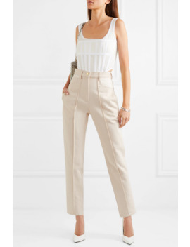 Paneled High Rise Straight Leg Jeans by Dion Lee